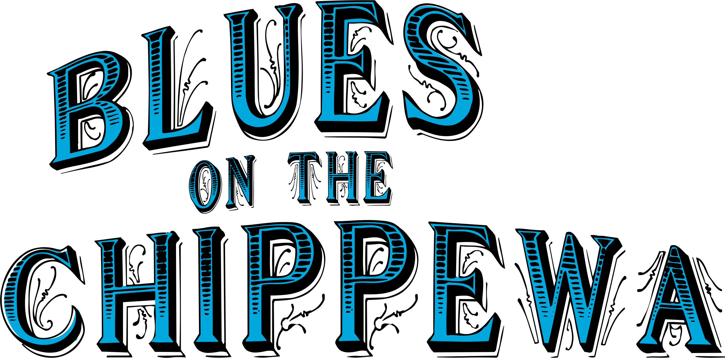 Original Blues on the Chippewa logo. High-res transparent png file