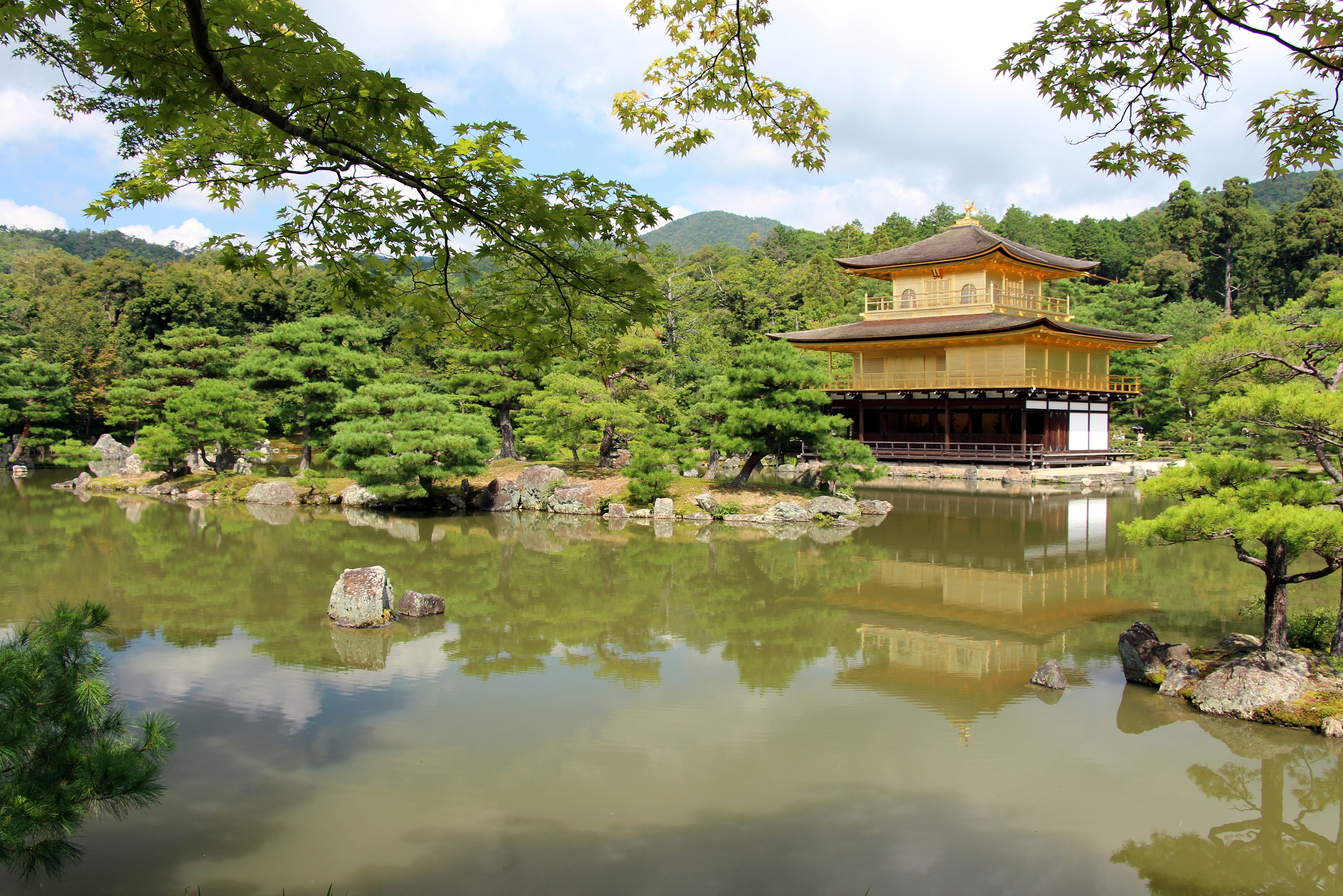 The garden and pond surrounding the Golden Pavilion are hard to capture in photos. The space was absolutely stunning.