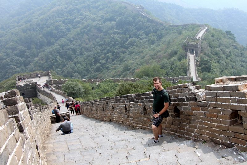 Andrew at the Great Wall of China