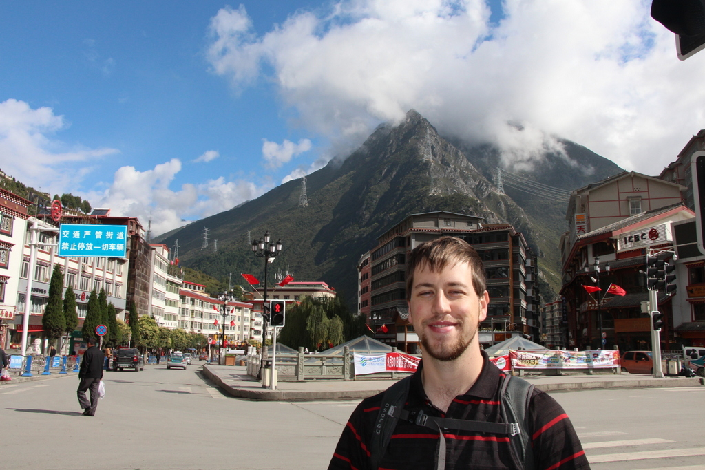 Andrew in downtown Kangding