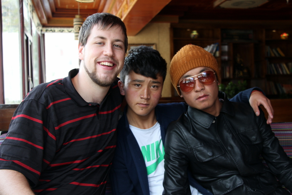One of the many photos I posed for at a Tibetan restaurant in Kangding