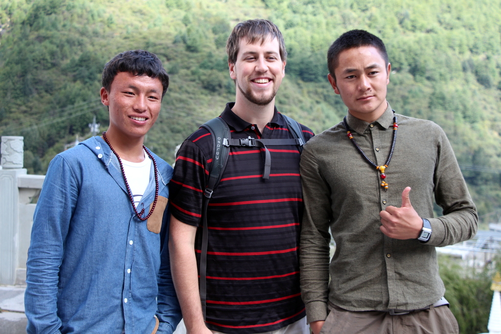 One of several group photos I took at a monastary in Kangding