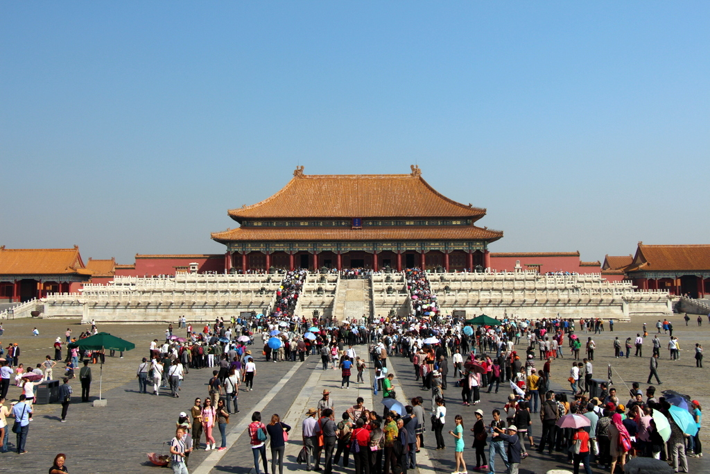 Beijing: Visiting the giant Forbidden City (the home of the Chinese Emperors of the past) was still great despite the giant crowds