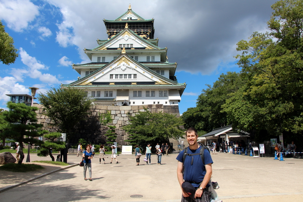 Osaka: In front of the main tower at Osaka castle