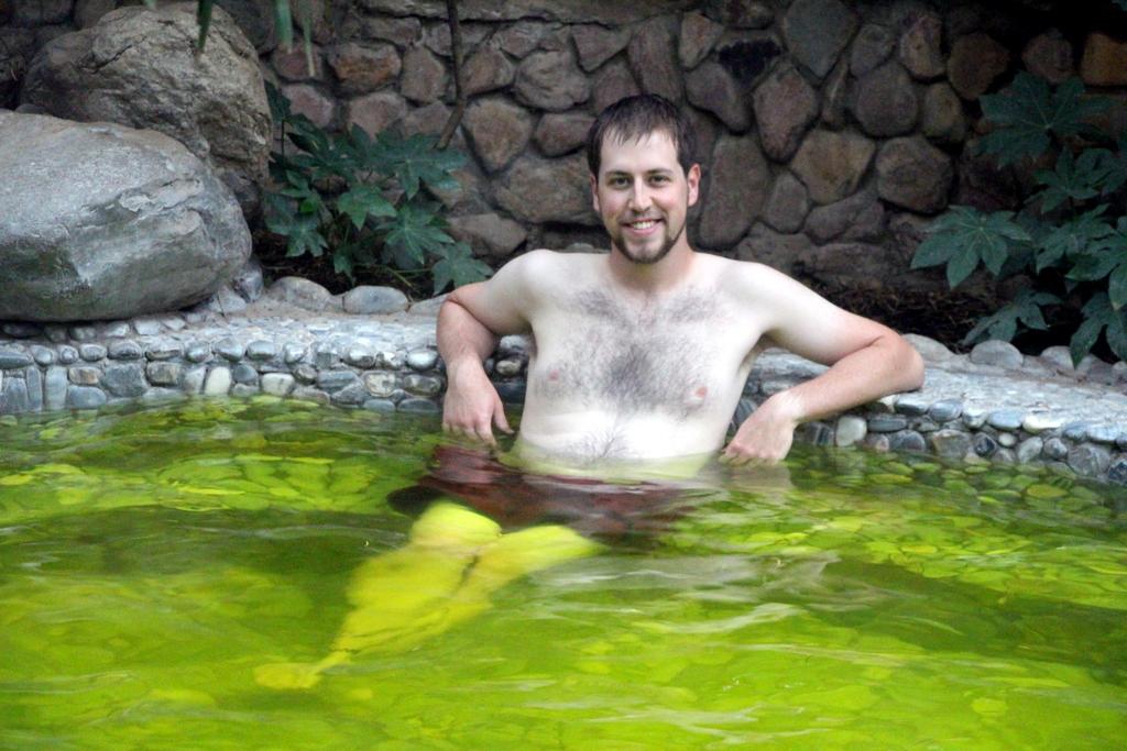 The green pool smelled exactly like lemon-lime Gatorade.