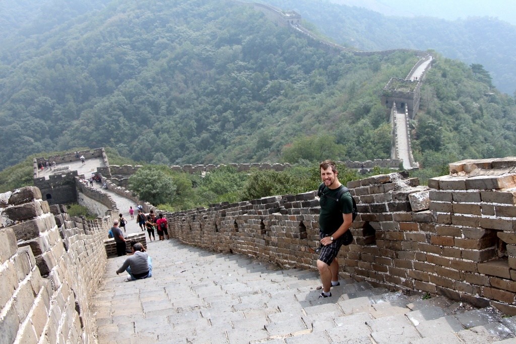 A view from atop the Great Wall of China at Mutianyu