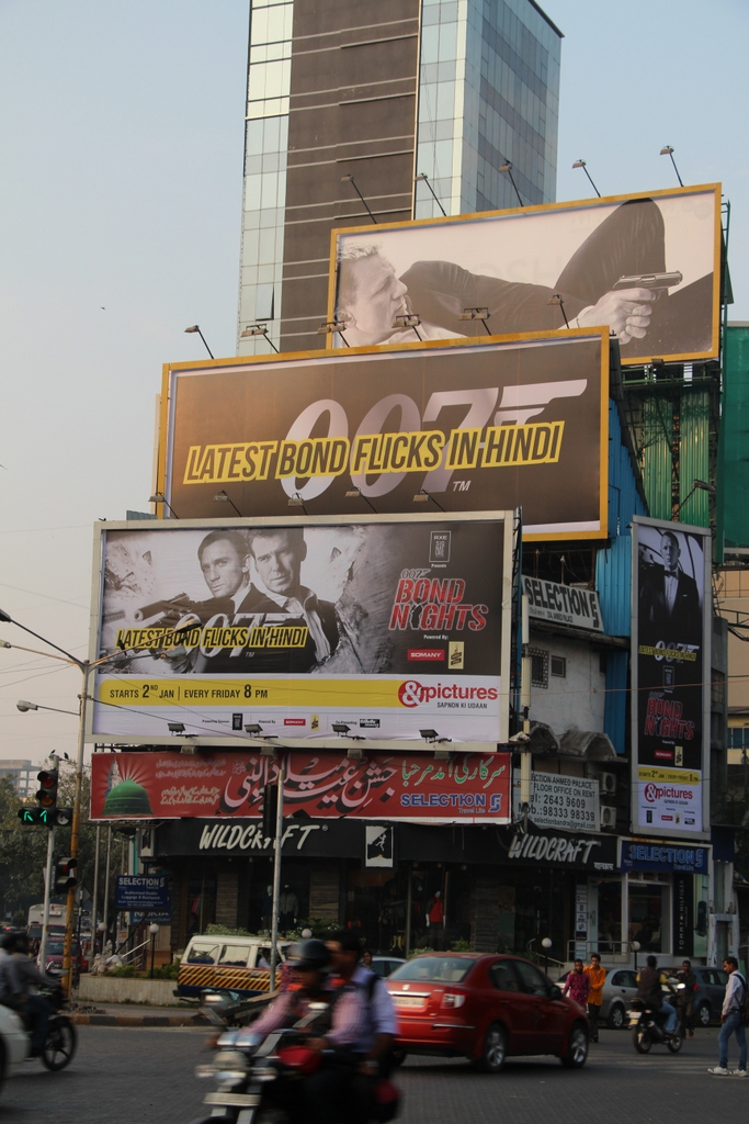 Looks like 007 is popular in India!
