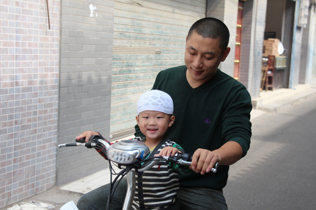 We ran into this cute father/child pair in Xi'an, China