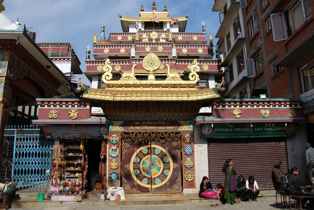 Hindu and Buddhist temples seem to dot every other street corner in Kathmandu. We loved the look their architecture brought to the city.