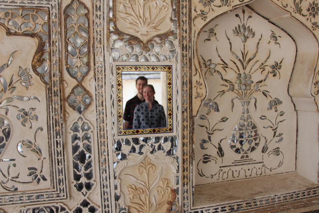 Taken the following day at the Jaipur Fort in the mirror room