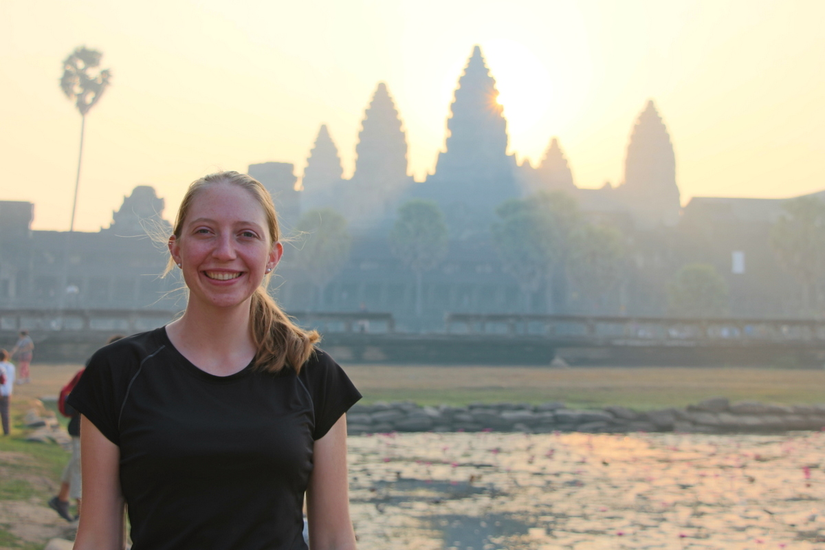 We saw sunrise at Angkor Wat outside of Siem Reap, Cambodia