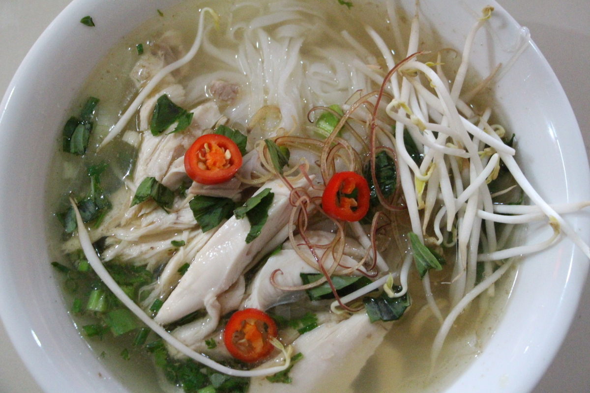 Pho ga, or pho with chicken.