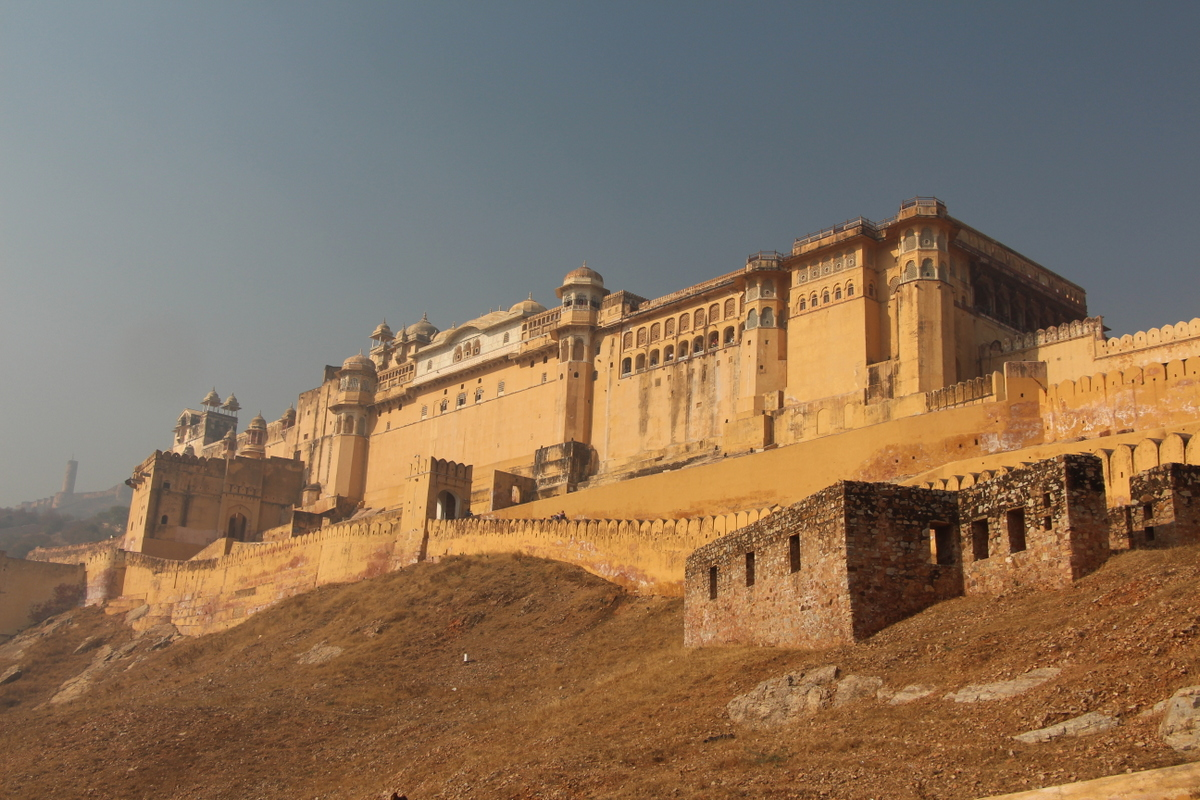 The famous fort outside of Jaipur
