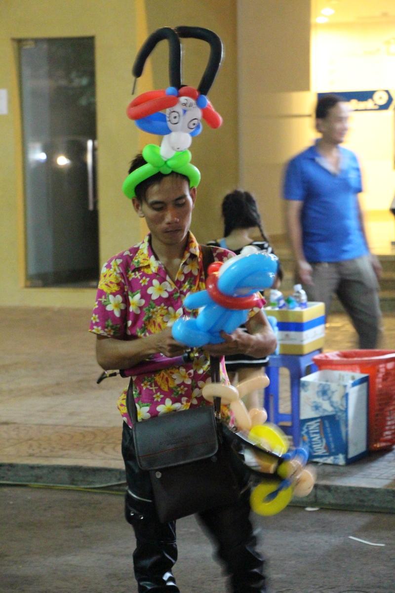 Goat balloon hat!