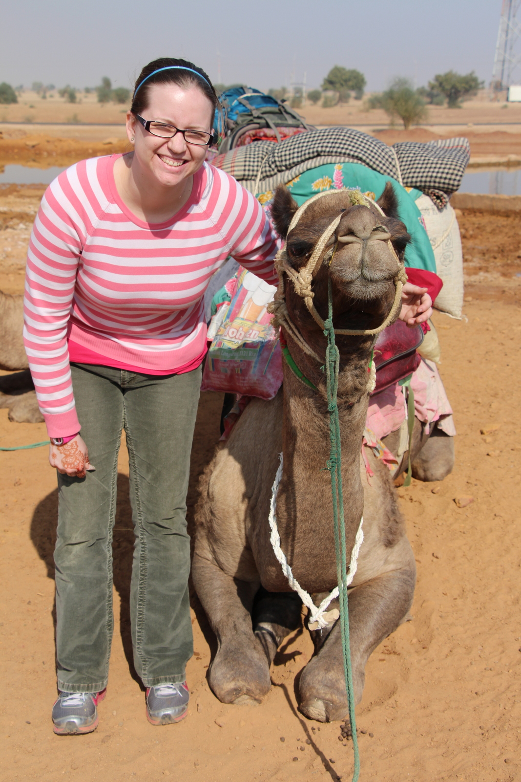 Tori and her camel Jed