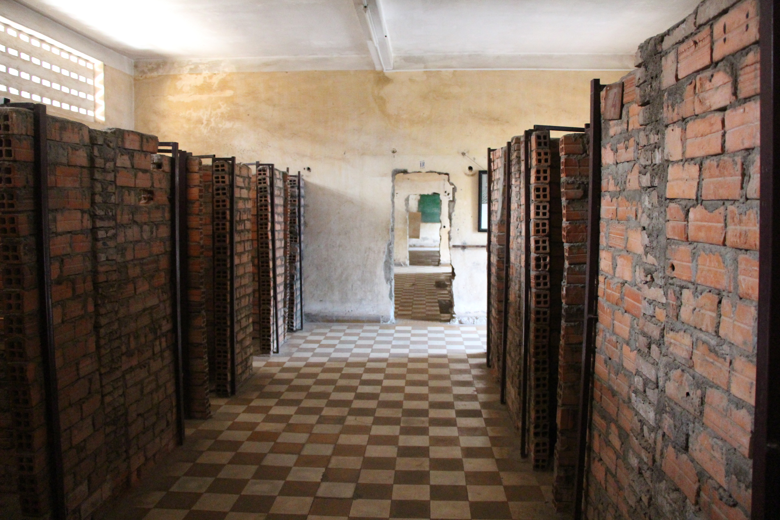 Most prisoners were held in small brick cells like these in long blocks attached to one another.