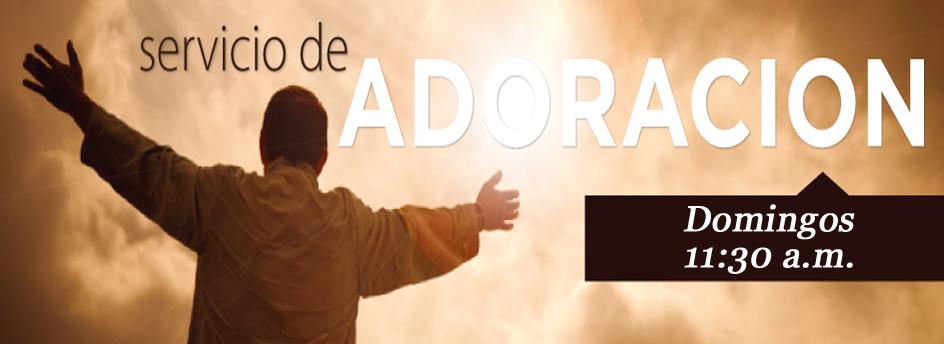 Juntase con nosotros cada Domingo a las 11:30 en la manana para glorificar y adorar El Senor.