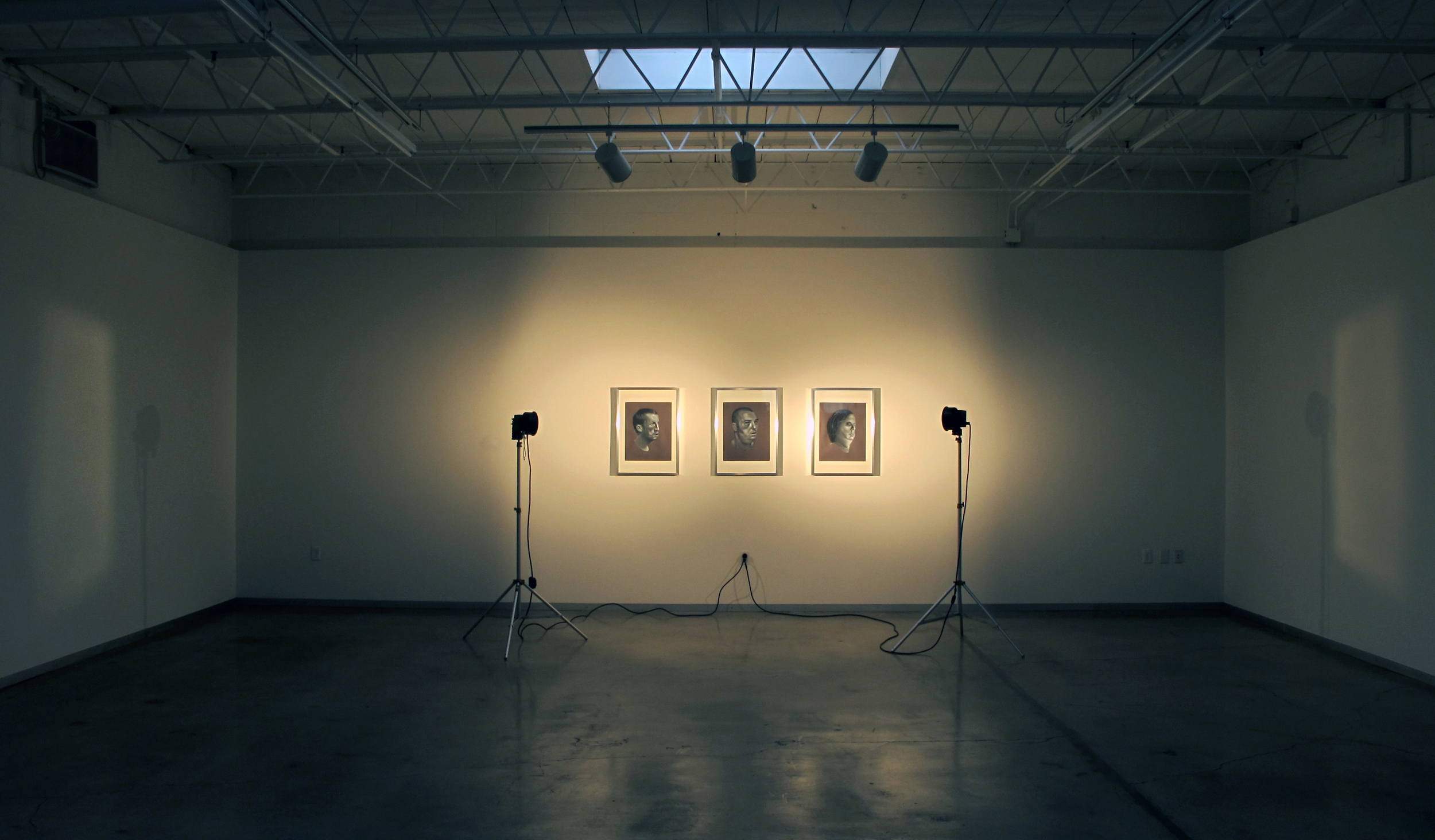 Installation View of  Simultaneous Portraits