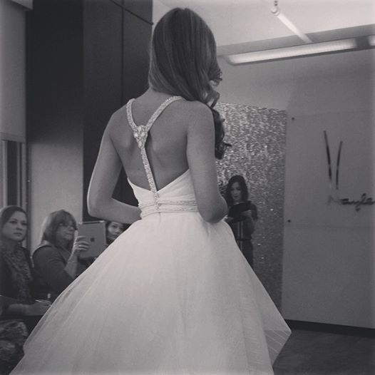 Hayley Paige, Fall 2015. Photo courtesy of facebook.com/hayleypaigebridal