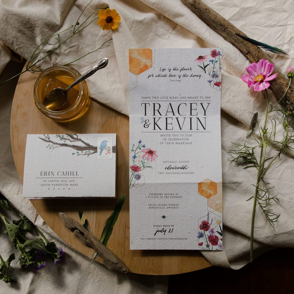zero waste wedding invitations