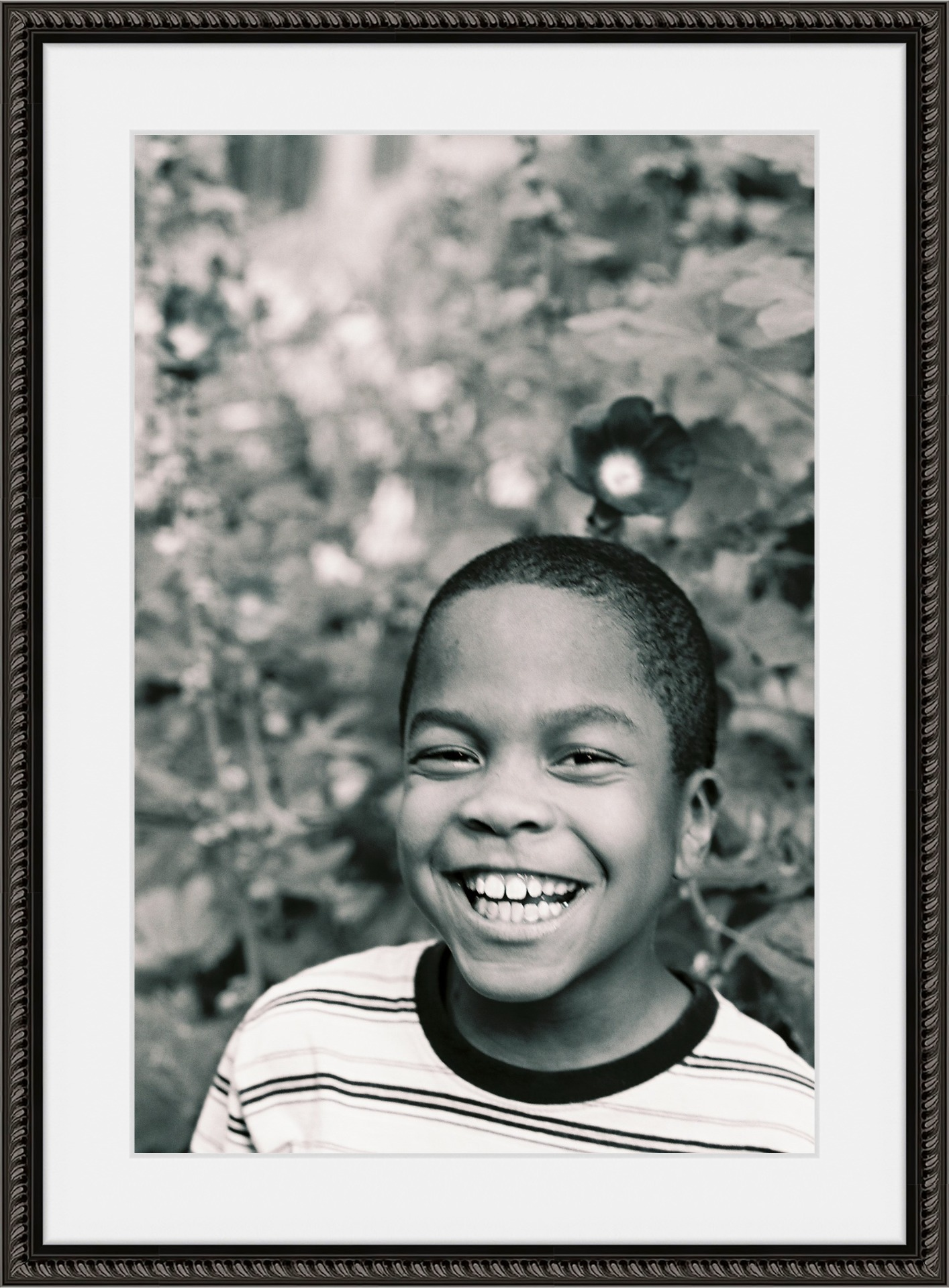 Black_White_Boy_Portrait_In_Garden_