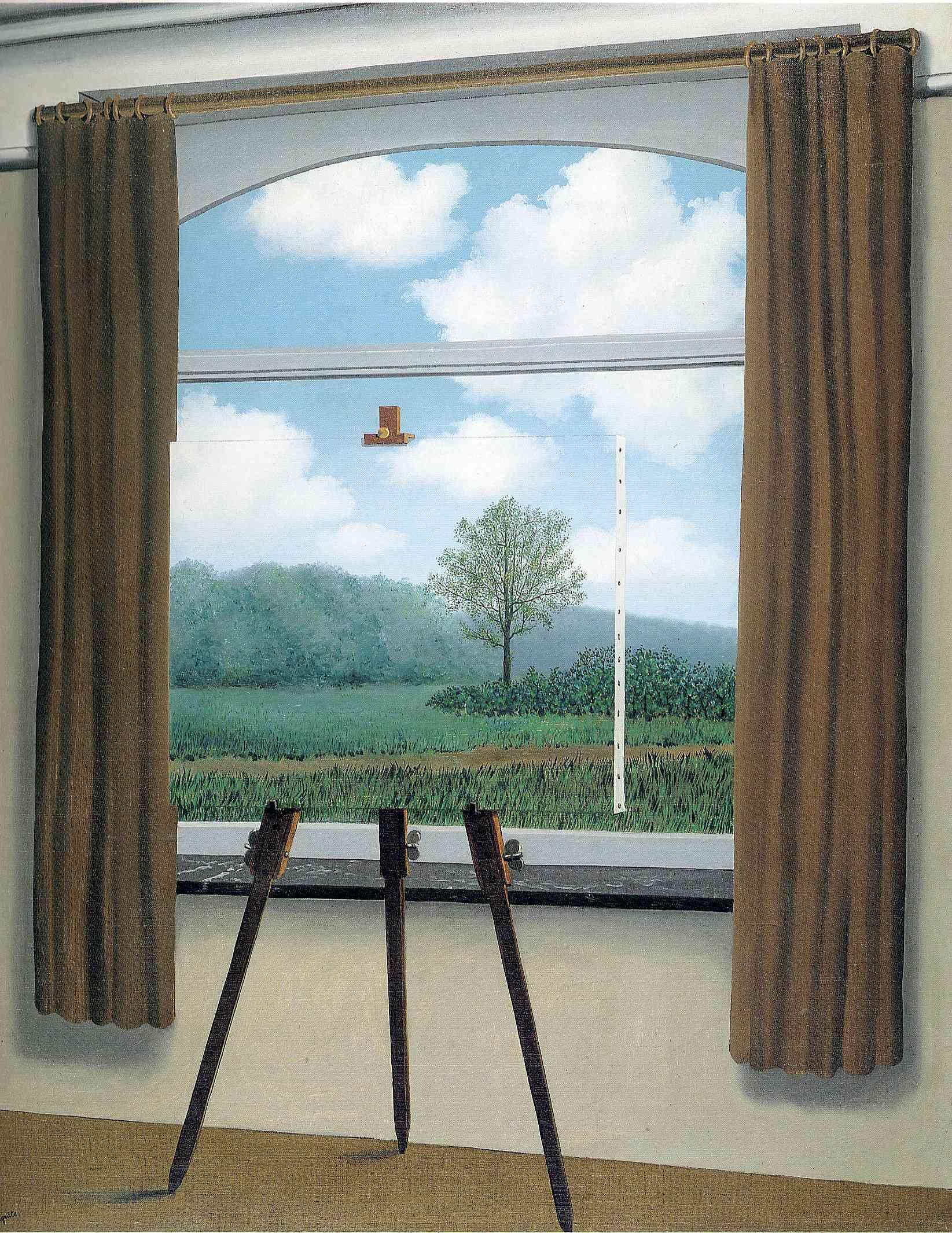 La condition humaine /  A condição humana (René Magritte, 1933)