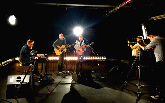 Chris Tomlin performs for a Billboard Studio Session