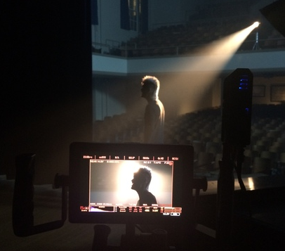 Colton Dixon on set for the Through All of It music video