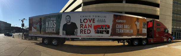"Tomlin's ""Love Ran Red"" Tour partnered with CURE International to benefit disabled children."