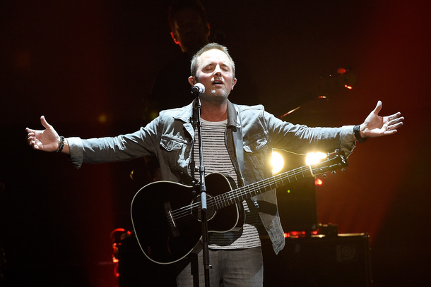 "Male Artist of the Year winner Chris Tomlin performs ""At The Cross (Love Ran Red)"""