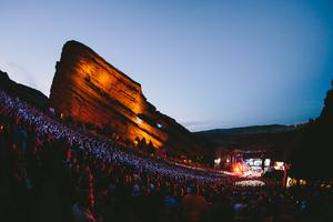 Thousands worship together at Red Rocks in Denver.