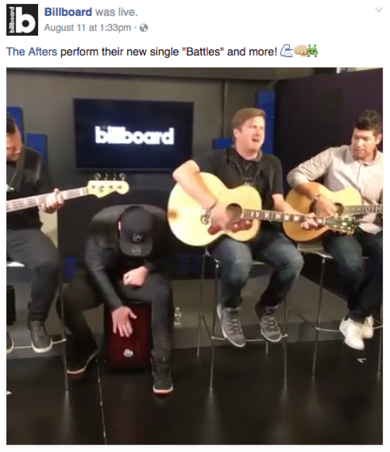 The Afters Perform Live at Billboard