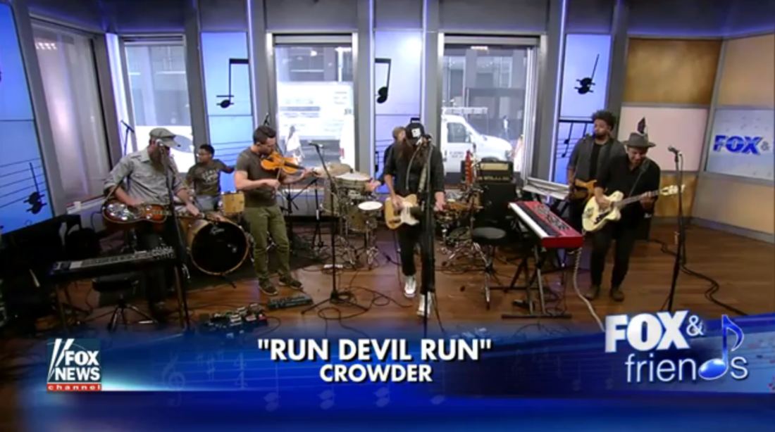 "Watch Crowder's ""Run Devil Run"" Performance  HERE !"