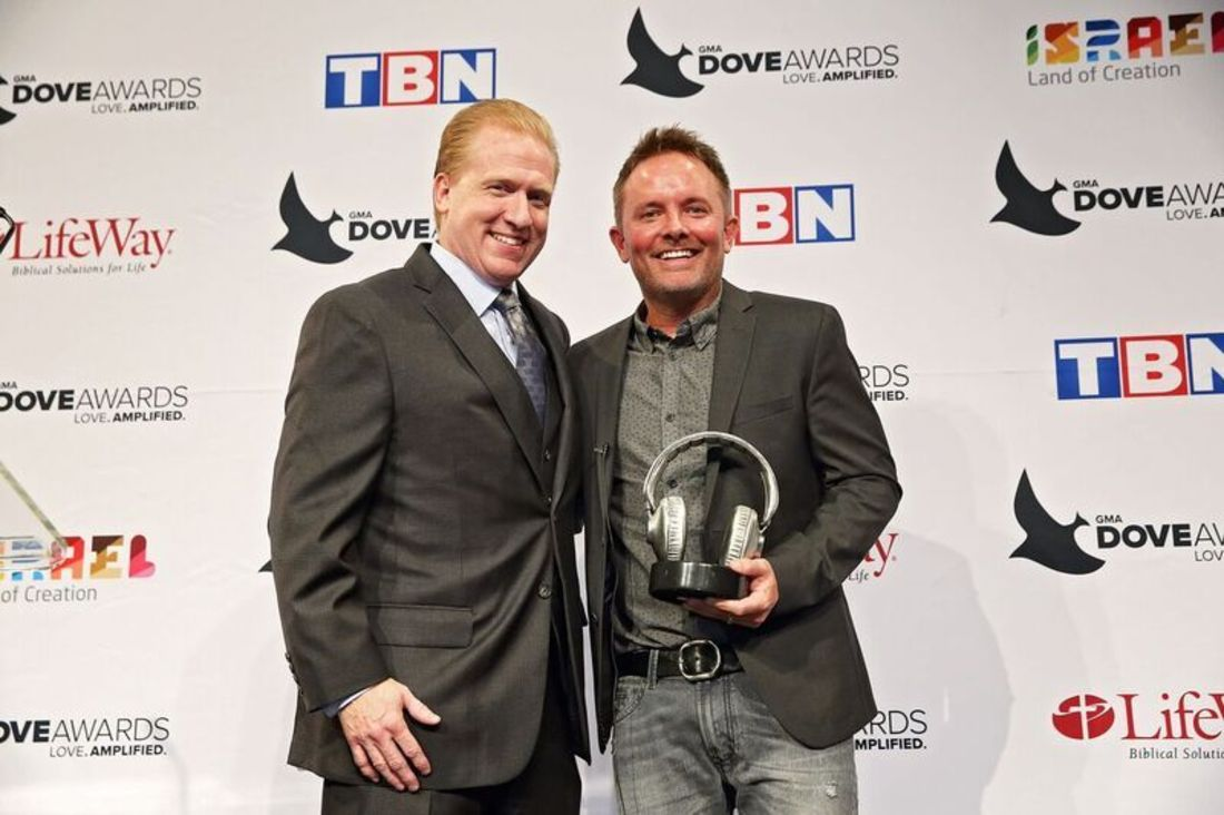 SoundExchange President and CEO Michael Huppe presented GRAMMY ®  Winner Chris Tomlin with the SoundExchange Digital Radio Award