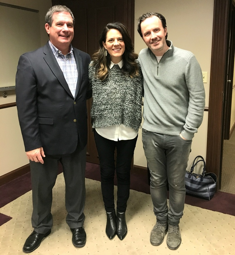 Left to right: President and CEO of LifeWay Christian Resources Dr. Thom S. Rainer, Christy Nockels, Nathan Nockels
