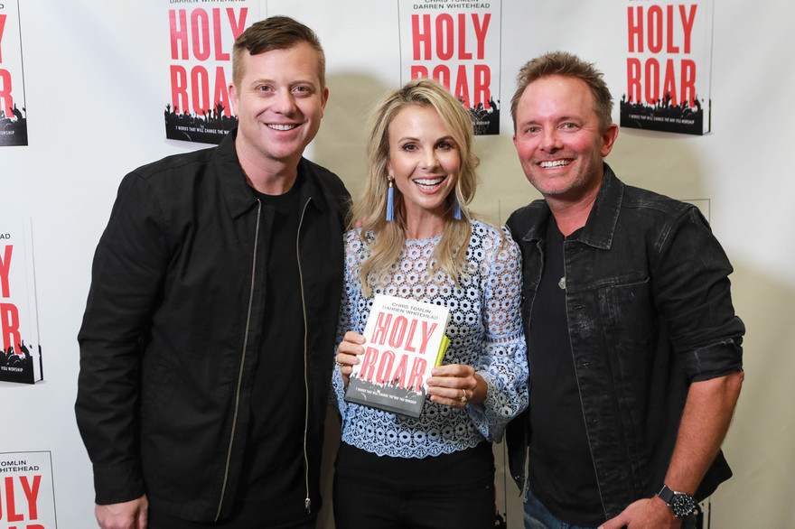 Elisabeth Hasselbeck hosts a book release celebration with Tomlin and Whitehead at Nashville's Church of the City (Photo credit: John Sherlock)