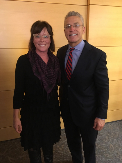 Left to Right: Sara Groves with Gary Haugen of IJM at the Ronald Reagan Building