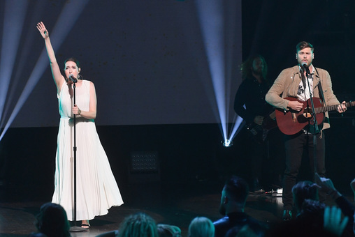 Francesca Battistelli and Cory Asbury. Credit: Getty Images