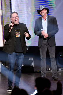 MercyMe's Bart Millard and Trace Adkins. Credit: Getty Images for K-LOVE