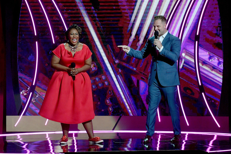 Co-hosts Mandisa & Matthew West. Credit: Getty Images for K-LOVE