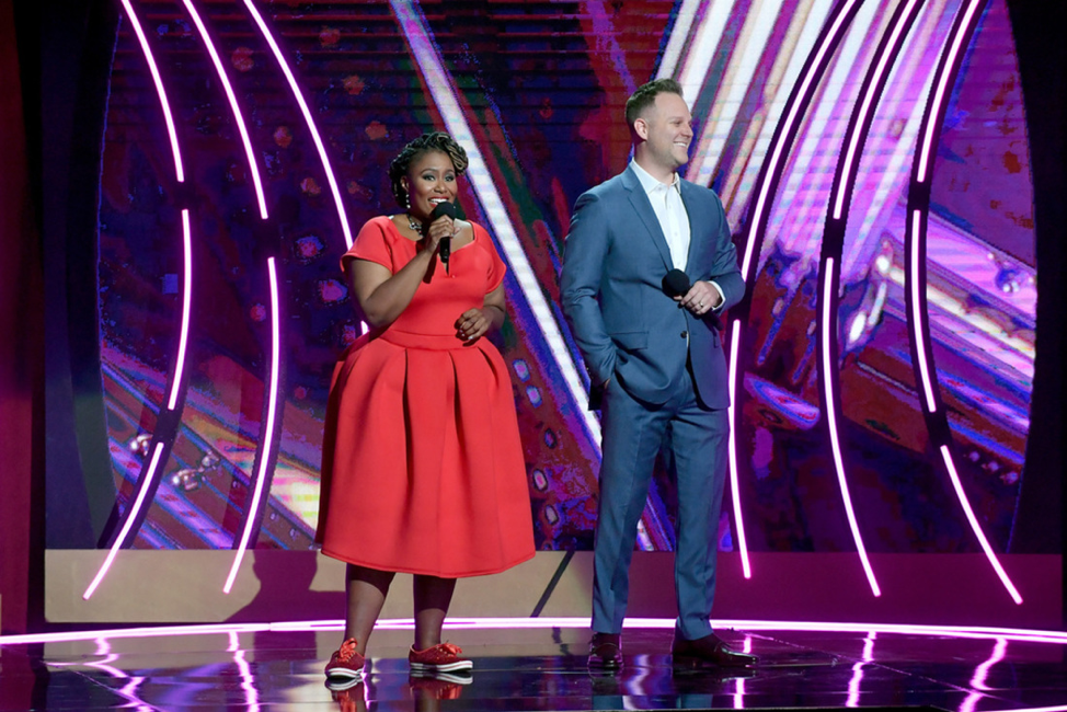 Co-hosts Mandisa & Matthew West (2018). Credit: Getty Images for K-LOVE