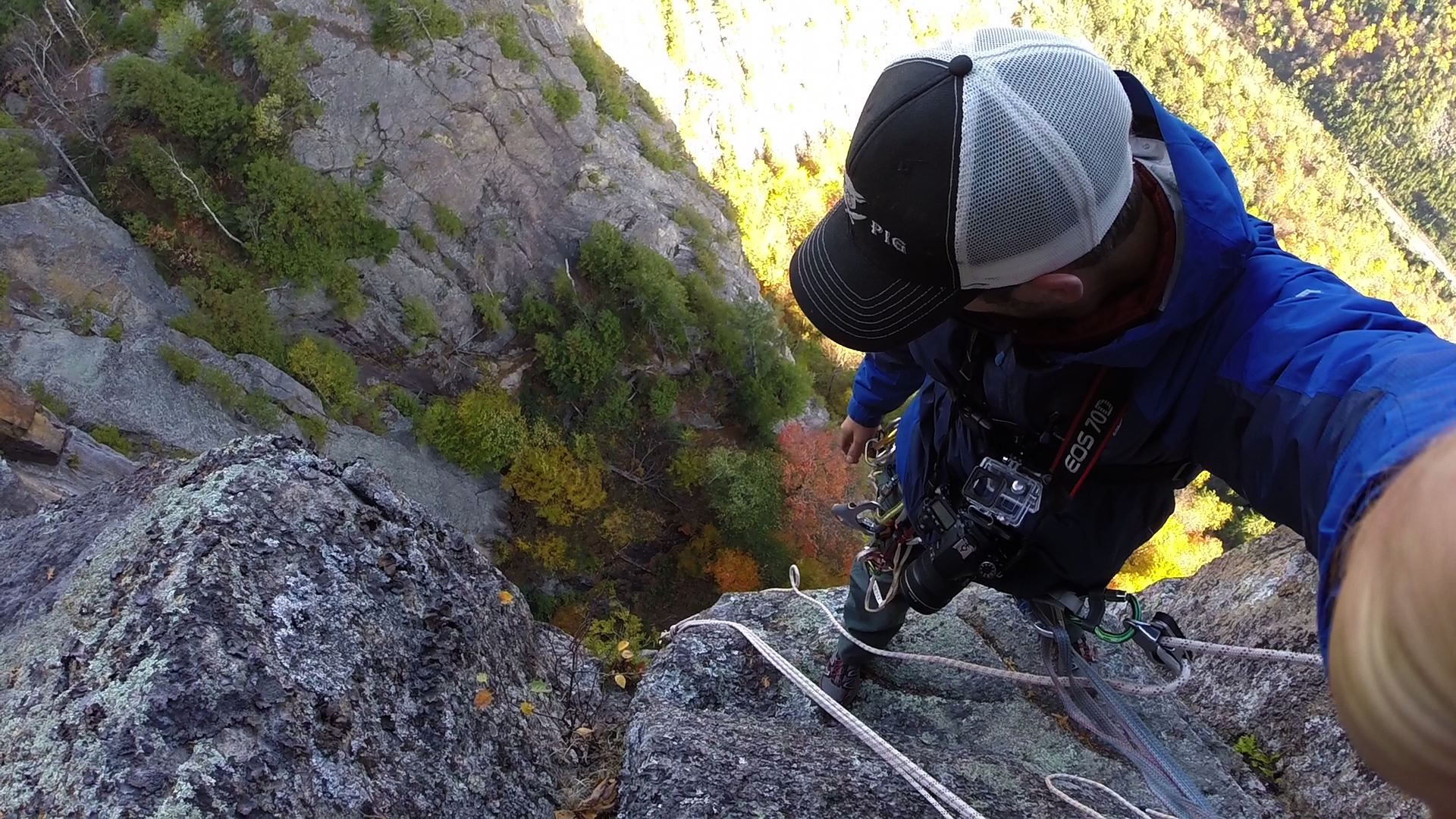 rappelling off of moss cliff [adirondacks, ny]