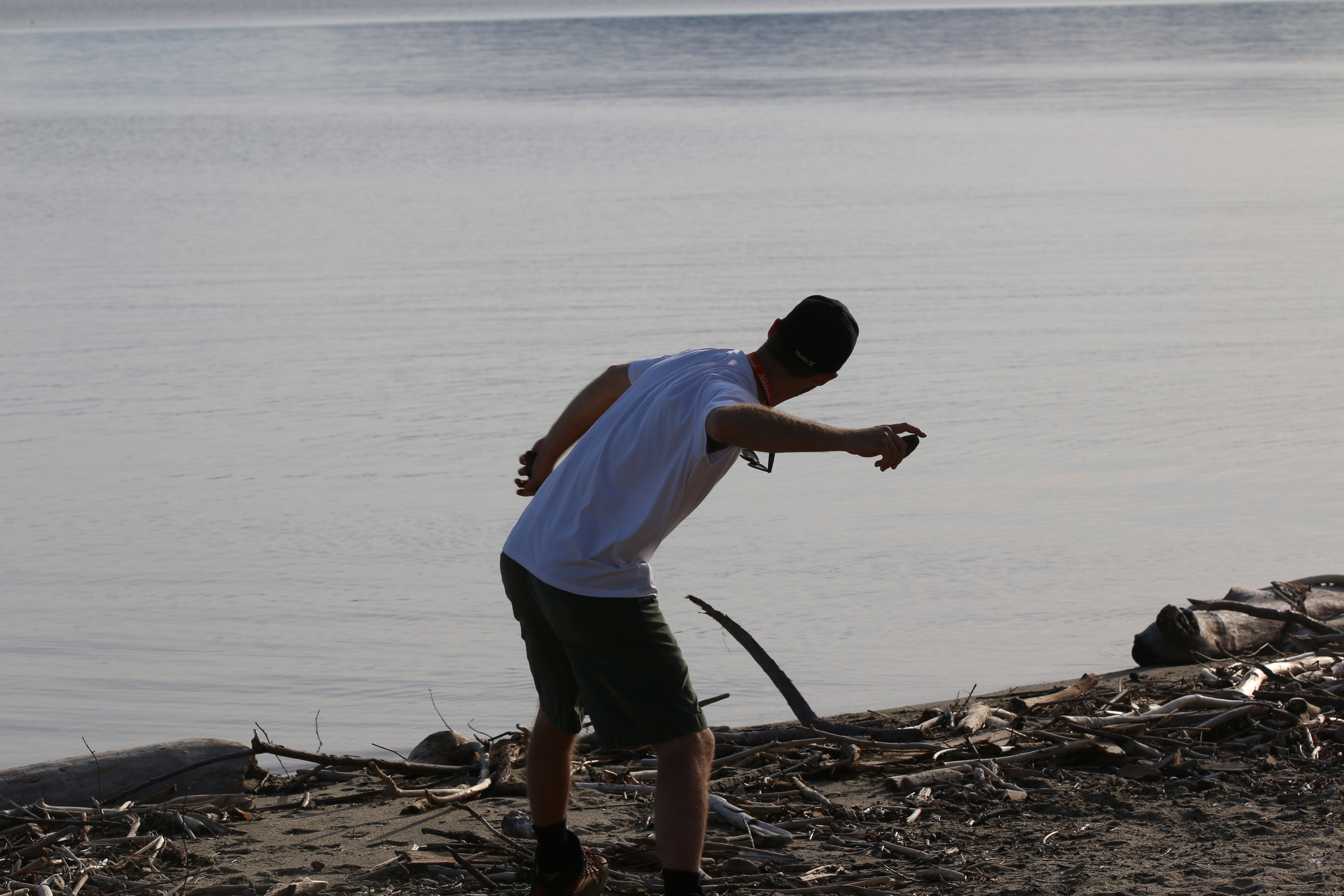 Skipping rocks my whole life [colchester point, VT]
