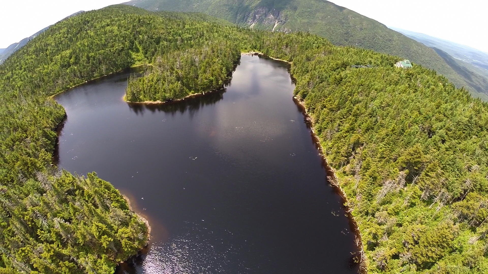 Aerial view of Sterling Pond [Smuggler's Notch, VT]