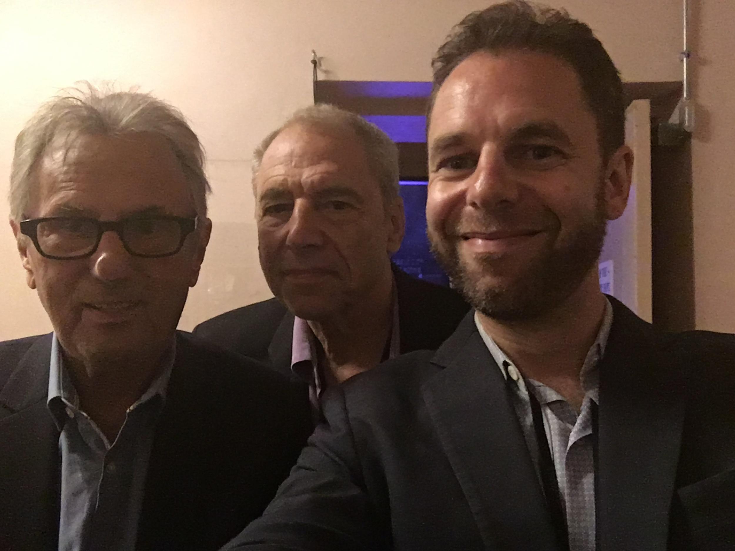 Al Schmitt, Ben Sidran and Leo Sidran in Cleveland (June, 2016)