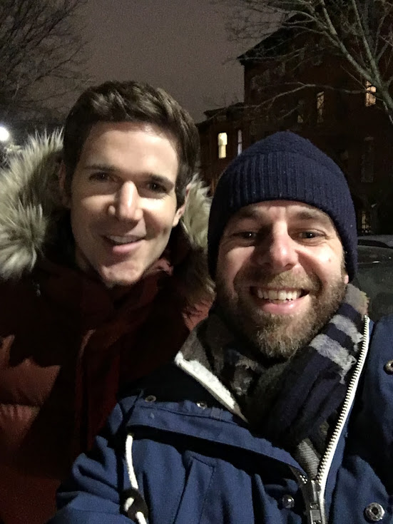 Quick selfie in the cold in January, 2017 with Ben Wendel and Leo Sidran.