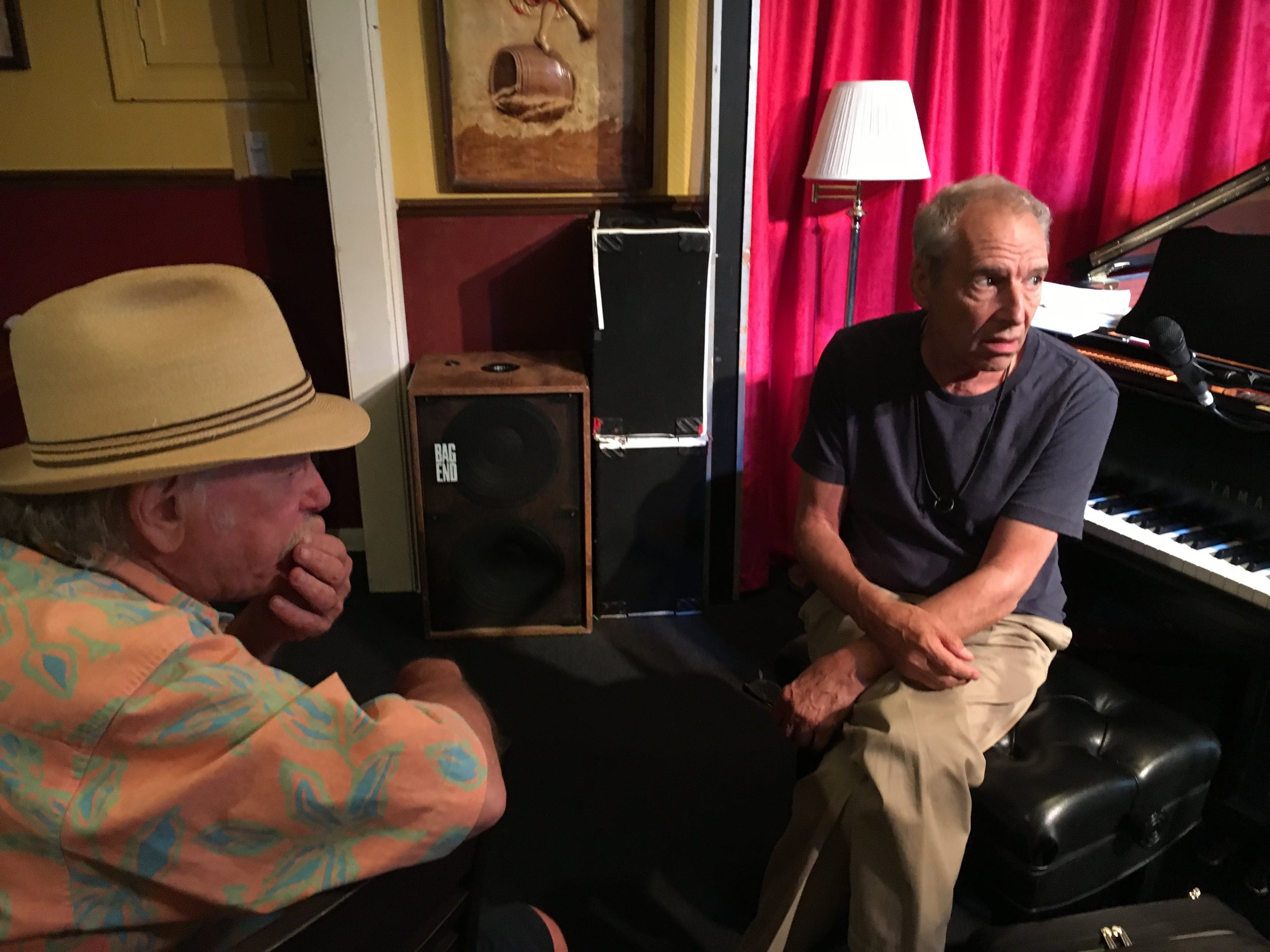 Richie Cole and Ben Sidran - old friends catching up at Nighttown in Cleveland