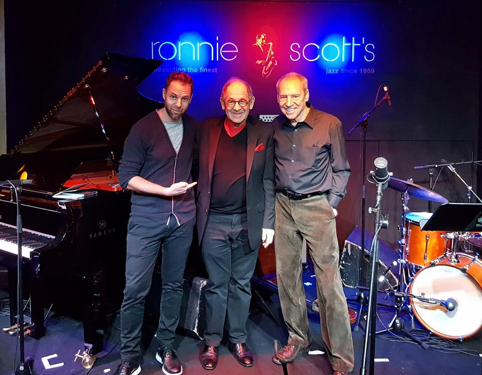 with Ralph Simon at Ronnie Scott's in London, November 2017
