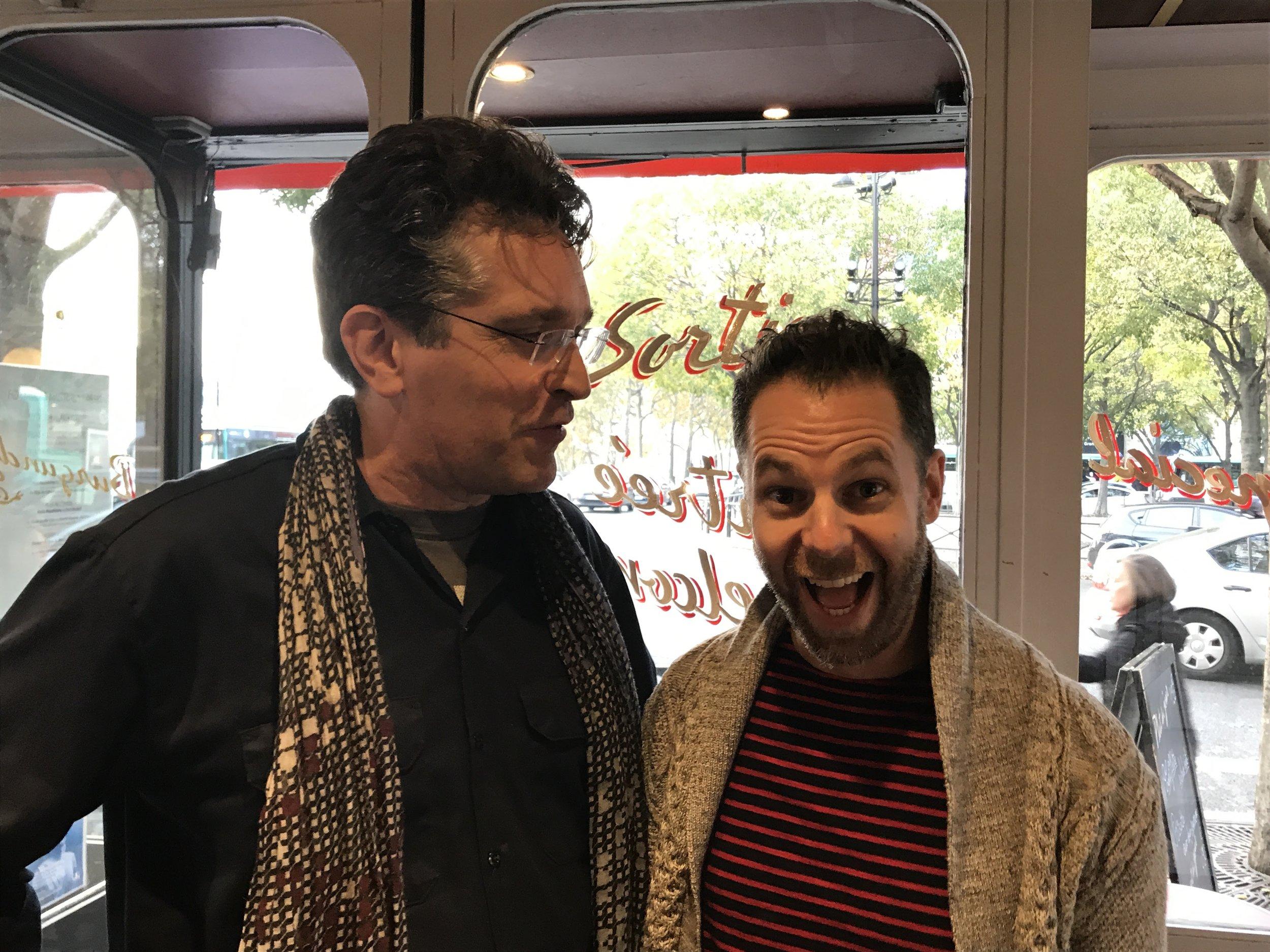 with Andrew Crocker at Le Mistral, Paris, November 2017