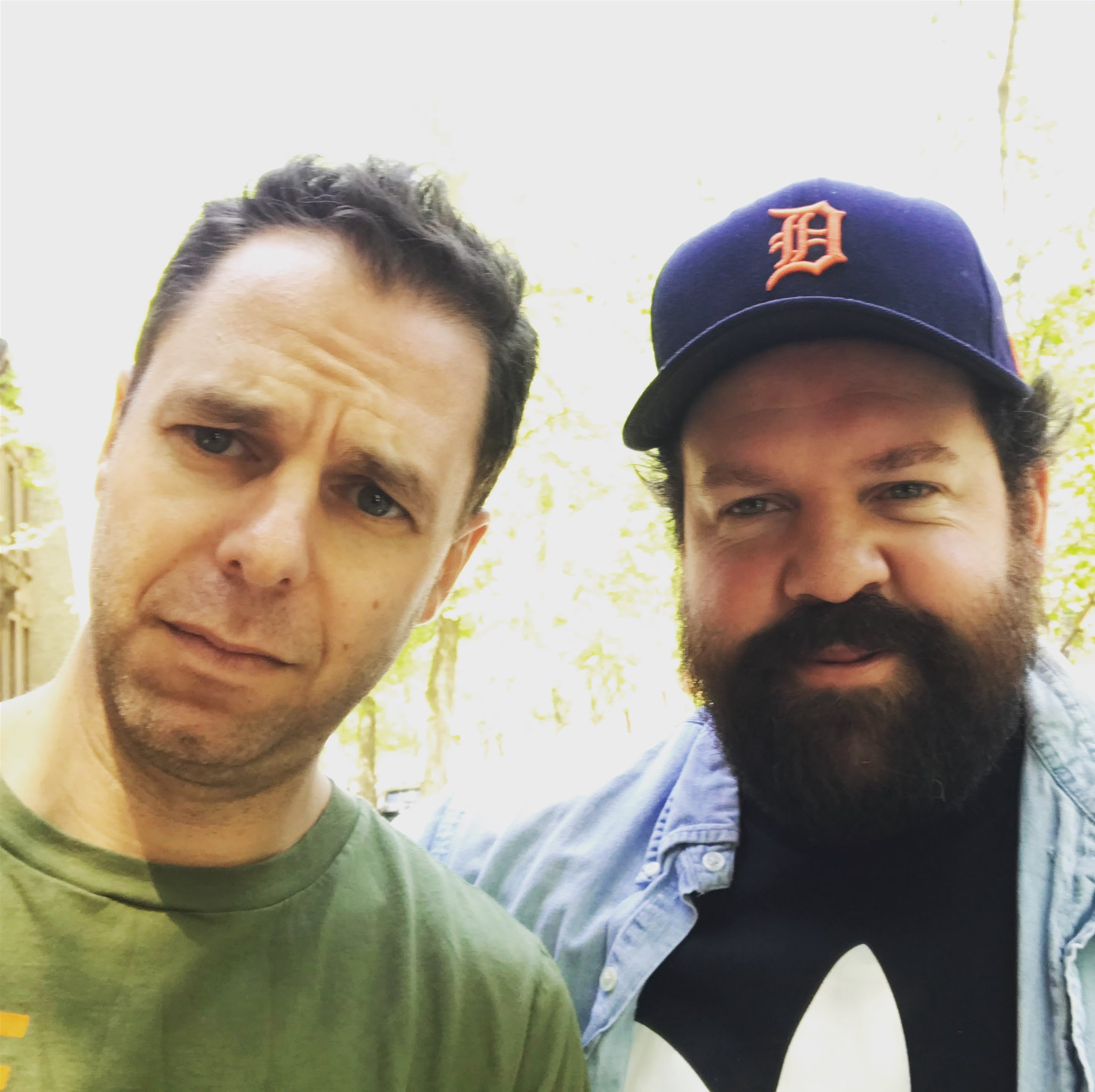 With Donovan Woods, Brooklyn, May 2018.